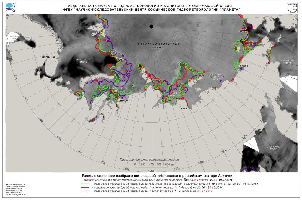 Ледовая обстановка в Арктике